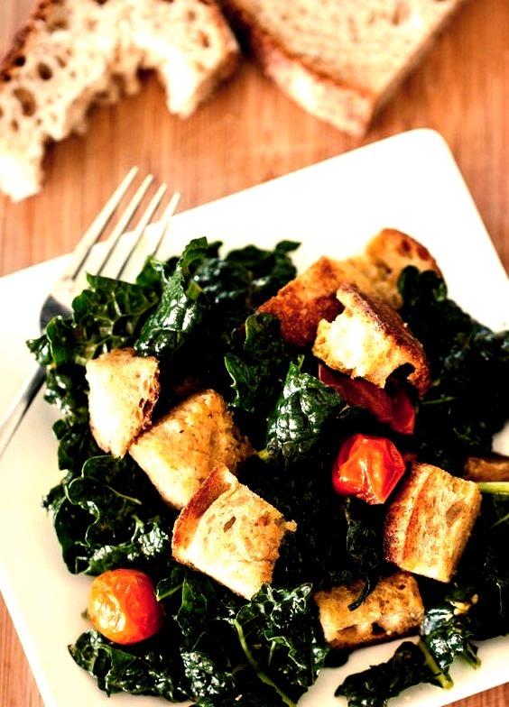 Kale Panzanella Salad