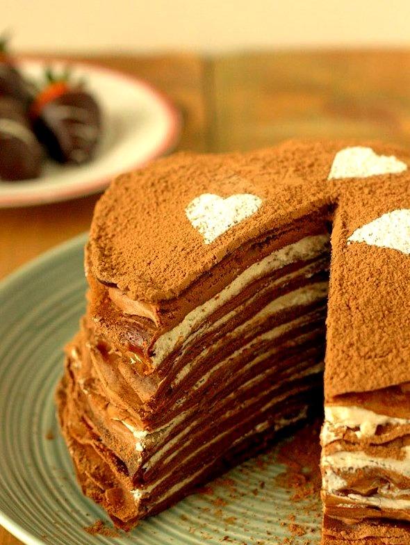 Recipe: Chocolate Crepe Cake