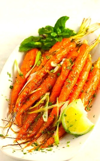 Roasted Cumin-Lime Carrots familystylefoodrecipe on We Heart It. http