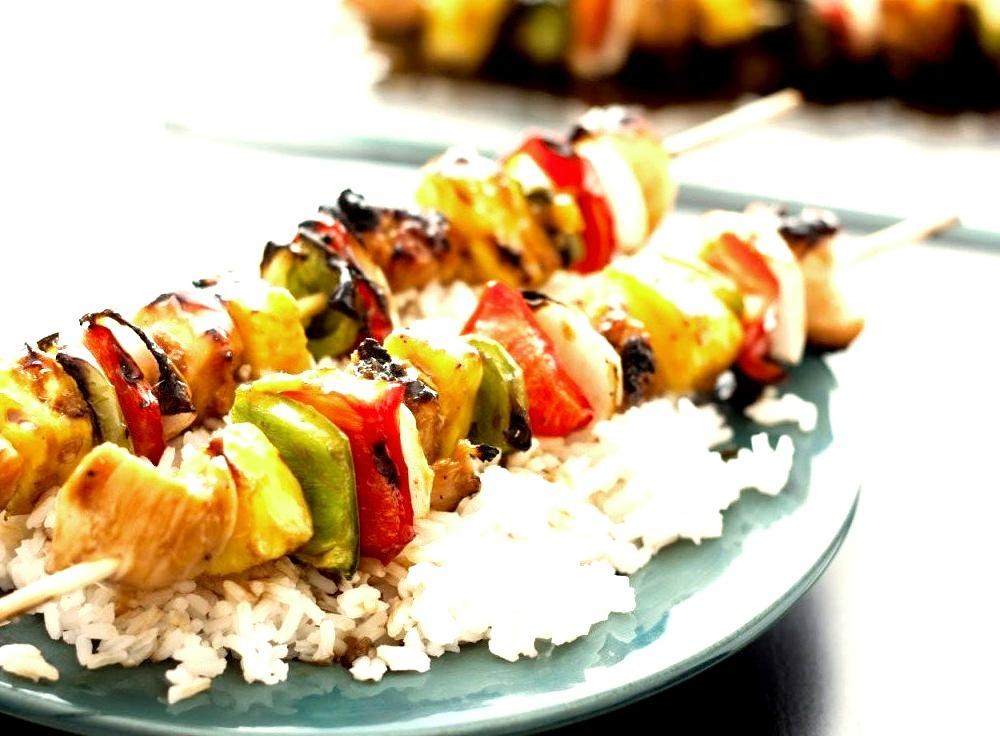 Grilled Chicken Teriyaki Kebabs