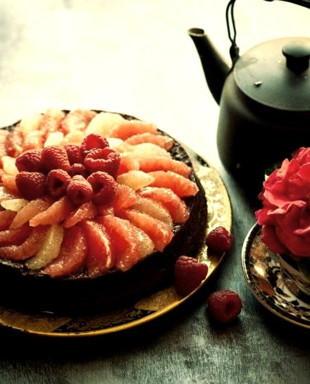Grapefruit Raspberry Flourless Chocolate Cake Anthology Magazine