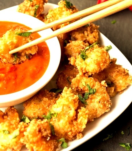 Coconut Prawns with Fiery Tomato Dip