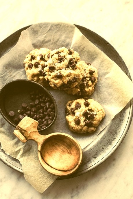 Small Batch Chocolate Chip Cookies (Vegan) Top With Cinnamon on We Heart It.