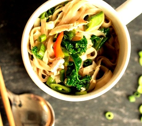Homemade Chicken and Vegetable Pot Noodle (Instant Noodles)Source