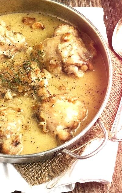 Rustic Chicken with Garlic GravySource
